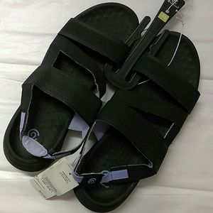 Jazira Slide Black and Periwinkle blue